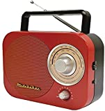 JENSEN SB2000RB Portable AM/FM Radio in Red