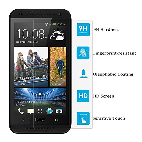 HTC Desire 610 Screen Protector - [2-Pack] KATIN Premium 9H Tempered Glass , 2.5D Round Edge , 3D Touch Compatible with Lifetime Replacement Warranty