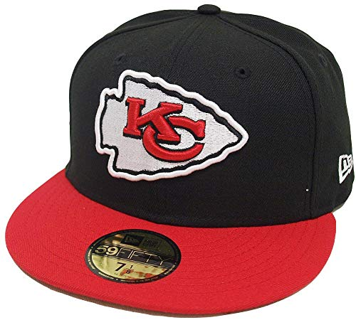 New Era Kansas City Chiefs Black Red 2 Tone On Field NFL Cap 59fifty 5950 Fitted Limited Edition