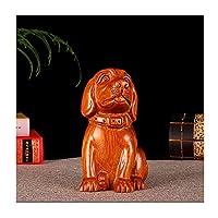 TEAYASON 彫刻/彫像見事に彫られた犬の彫刻創造的な動物の彫像ツイーゾディアック風水家の仕上げは、お祝いのイベントの飾りの置物の家のための幸運な贈り物として使用されます,B,小さい