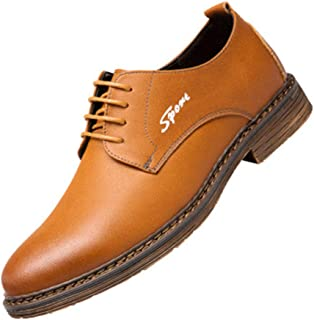 Men's Oxford Dress Shoes-Stylish Oxfords Formal Work Shoes Casual Lace Up