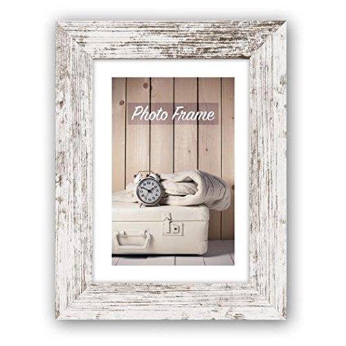 Zep Nelson 13x 18cm, blanco de Vintage, marco de madera