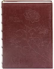 "Golden State Art Photo Album, Holds 300 4""x6"" pictures, 3 per page, Suede Cover, N55019-3 Rusty Bronze"