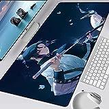 Demon Slayer Alfombrilla para teclados de Goma para Juegos Alfombrilla para Escritorio envío Alfombrilla para Mouse Grande Alfombrilla para teclados Protector de Escritorio (11 x 23 Pulgadas)