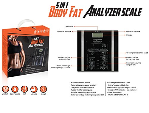 Find Discount Grand Innovations 5 in 1 Body Fat Analyzer Scale