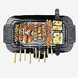 Barbecue da tavolo elettrico senza fumo per barbecue bbq antiaderente con regolazione dell...
