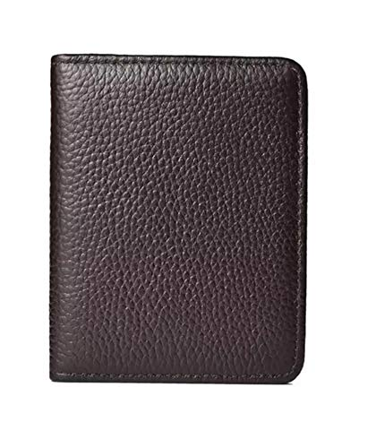 RFID Blocking Ultra Slim Genuine Leather Credit Card Case with 6 Cards Slots & 1 Note Wallet