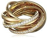 Joop! Damen-Ring Vergoldet Glas weiß, Gelbgold Gr. 56 (17.8) - JPRG10631B180