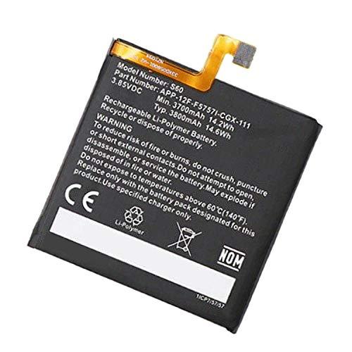 Backupower Ersatz Akku Kompatibel mit Caterpillar CAT S60 Akku APP-12F-F5757I-CGX-111 3700mAh/14.2WH