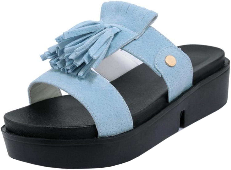 KemeKiss Women Slip On Sandals Flatform