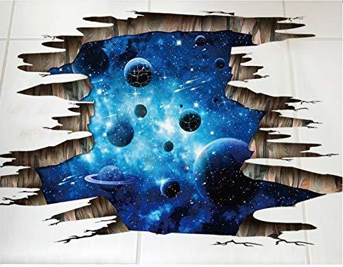 HALLOBO® Bodenaufkleber Decke Aufkleber 3D Galaxie Planet Weltraum Wandtattoo Wandsticker Wohnzimmer Schlafzimmer Kinderzimmer