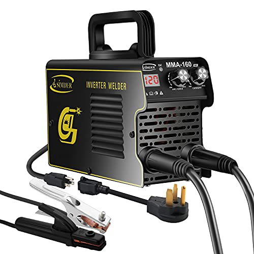 Arc Welder 120Amp 110V 220V Stick MMA Portable Welding Machine IGBT Digital Smart VRD Hot Start fits Below 3.2mm Welding Rods with Electrode Holder Work Clamps Input Power Adapter Cable 60% Duty Cycle