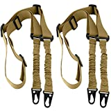 Accmor 2 Point Rifle Sling, 2 Pack Extra Long Gun Sling Two Point Traditional Sling Standard Strap with Metal Hook for Outdoor Sports