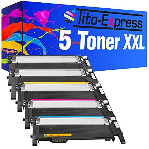 Tito Express PlatinumSerie 5X Toner Patrone XXL passend zu Samsung CLT 406 CLP 360 CLX 3300 3305 3305FN 3305FW 3305W CLP 360N 360ND 365 365W Xpress C410W C460FW SL C460W C467W