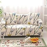 HYSENM 1/2/3/4 Sitzer Sofabezug Sofaüberwurf Stretch weich elastisch farbecht Blumen-Muster, Löwenzahn 1 Sitzer 85-140cm