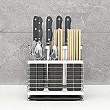 LLKK Soporte para Utensilios de Cocina,Porta-Utensilios de Cocina,Soporte para Cubiertos,Estante de Cocina de Pared para el hogar,sin Perforaciones,para Guardar Cubiertos de Cocina