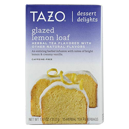 TAZO TEA, Tea, Herbal, Glzd Lmon Loaf, Pack of 6, Size 15 BAG, (GMO Free Yeast Free)