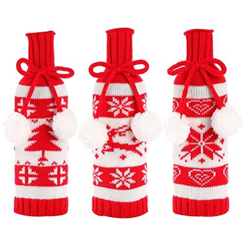 3 piezas 1 bolsa interesante botella de vino cubiertas adorables botellas de vino tinto juguetes decoración para banquetes celebración favores