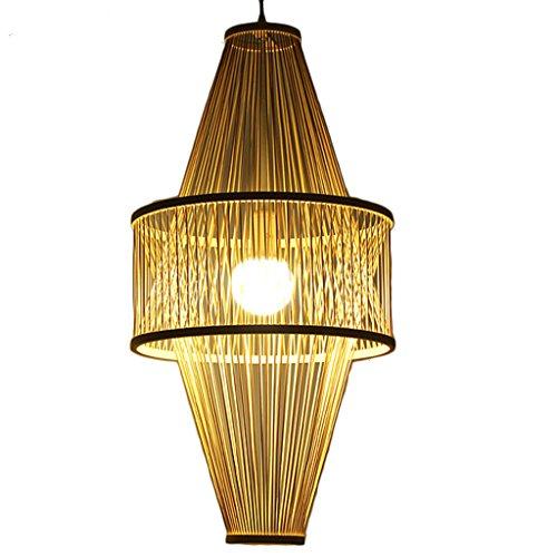 Kronleuchter Gaststätte-Leuchter-Grün-Bambus-Lampe Neue chinesische Nachttisch-Zen-italienische Gasthaus-Villa Südostasien-Treppenhaus-Gang E27 (größe : 46 cm x 46 cm x 78 cm)