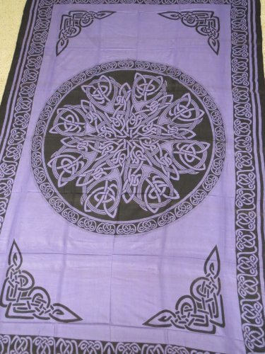 Hippie/Indian Tapestry/Wall/Bedspread/Tablecloth Purple Celtic Knot Mandala 72'x 108' TP26PL
