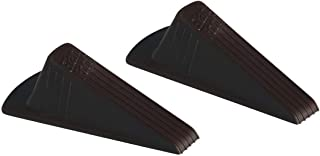 Master Manufacturing 2-Pack Brown Giant Foot Door Stop, Heavy Duty Rubber Wedge, Made in the USA, Holds Doors Up to 2