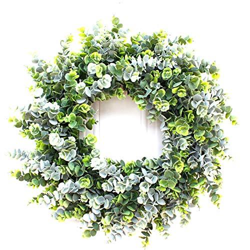 BINGBIAN Großer Eukalyptus-Kranz, 55,9 cm, handgefertigt, für Hochzeit, Weihnachten, Halloween, Party, Heimdekoration