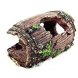 Decoración del tanque de tortugas de agua Reptiles tortuga Hábitat cueva escondite del acuario acuario Decoración del ornamento de la tortuga lagarto escorpión Terraza escondite Casa