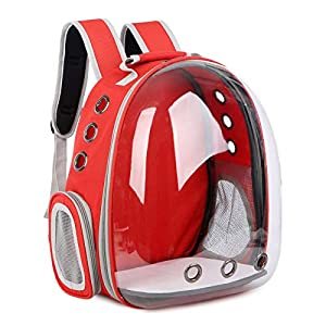 GJCrafts Cat Backpack,Portable Space Capsule Transparent and Breathable Pet Outdoor Travel Backpack Bubble Bag for Cats and Puppy