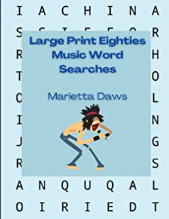 1980s Music Large Print Word Searches: 100 Find-a-Word Puzzles from the Decade of Big Hair and Bigger Hits