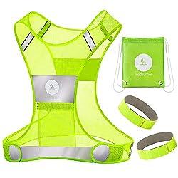 powerful RoadRunner New Reflective 360 ° Running Vest Equipment for Men and Women – Vest with Pockets,…