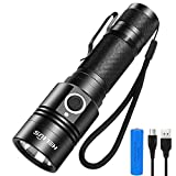 Helius LED Torch Flashlight Tactical Super Bright 4 Modes 1600 lumens IP67 Waterproof