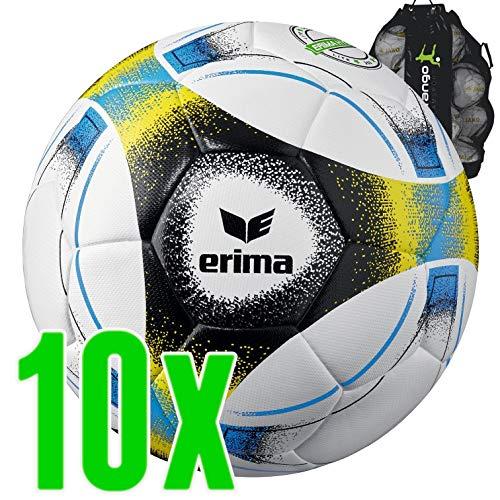 Sarango Sport Erima Hybrid Lite 350 Fußball 10er Ballpaket inkl. Ballsack NEU, Wähle Deine Größe:5