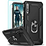 LeYi Compatible for Samsung Galaxy A50/ A50s/ A30s Case with [2 Pack] Tempered Glass Screen Protector, Military-Grade Phone Cover Cases with Magnetic Kickstand for Samsung A50/ A50s/ A30s, Black