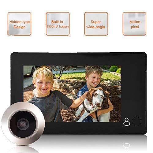 Deurspion, 4,3-inch HD TFT-LCD-scherm 1 miljoen pixels buiten-digitale Viewer deurbel 145 graden kijkhoek Home Security Camera