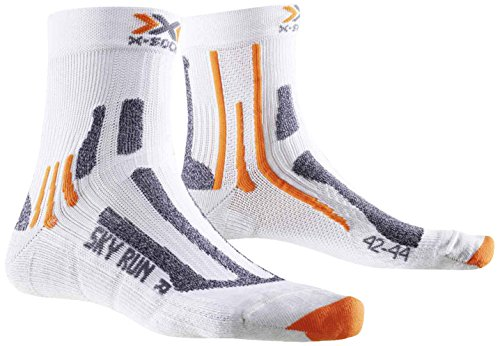 X-Socks Erwachsene Funktionssocken Sky Run Two Socken, White, 35/38
