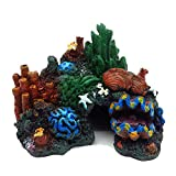Tutuziyyy Aquarium Coral Stone Plastic Resin Aquarium Landscape Decoration Painted Coral Reef Ornament