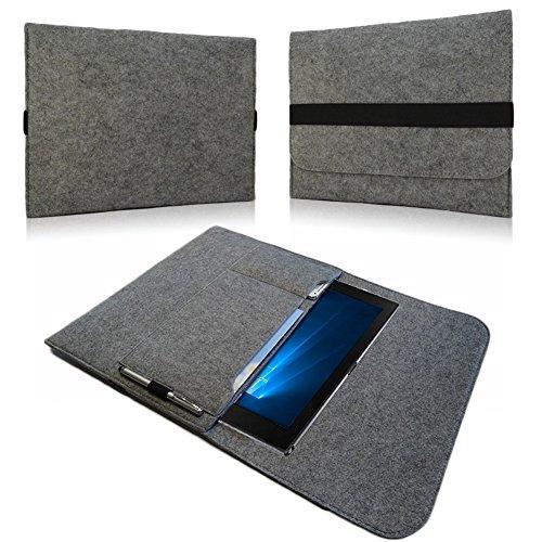 NAUC Sleeve Cover Hülle für Samsung Galaxy TabPro S Tasche Notebook Filz Case Grau