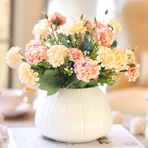 Figurilla Estatuas Adornos Adornos Ornamentos Salón De Simulación Floral Conjunto De Flores Falsas Decoración De Cerámica Floral Mesa Conjunto Simulación Floral Conjunto De Muebles Florales, Magnoli