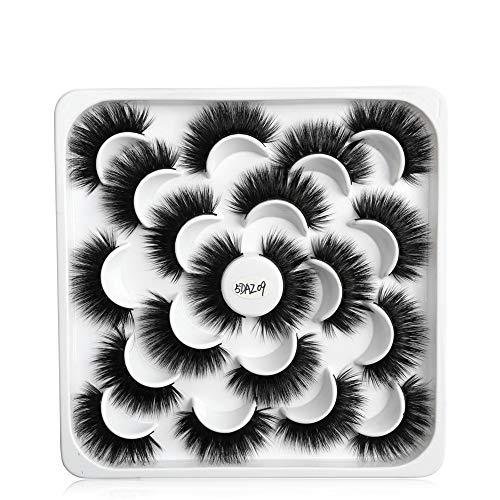 10 Pairs Mascara Extension Panacée Long Artisanal Mascara watervish Nature Faux cil Mixed style(5DAZ09)