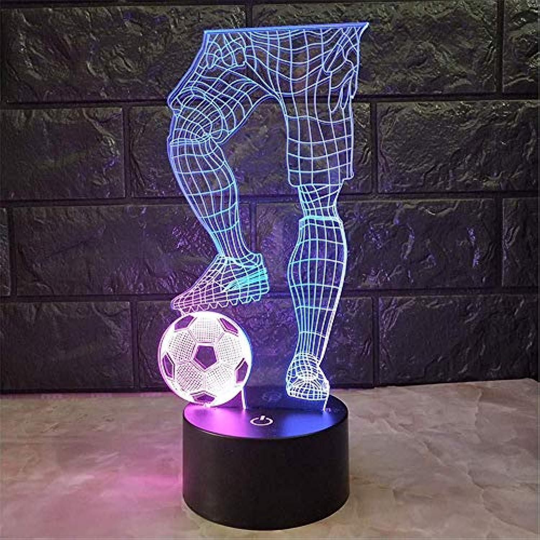 NHY Kind nachtlicht touch kreative tischlampe 3d led visuelle neuheit usb nachtlicht kinder geschenke spielen fuball lampe schlafen beleuchtung