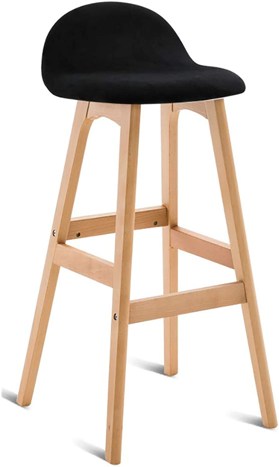 Solid Wood Bar Chair Modern Simplicity Bar Stools High Stool Creative Chair Home (color   C)