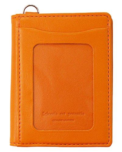 スリップオン パスコインケース ノワール 革 オレンジ NSL-3202