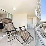 Inditradition Zero Gravity Relax Recliner Chair   Garden Patio Chair, 178 x 47 cm (Brown)