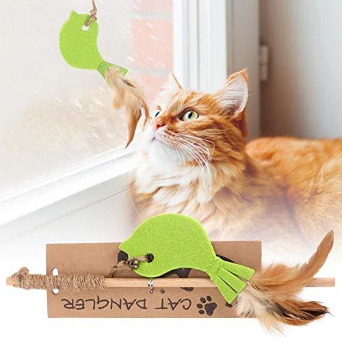 Cat Stick, Interactive Teaser Plush Feather Stick Hunter-speelgoed voor hond, kat, kitten (# 2)