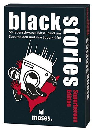 black stories - Superheroes Edition: 50 rabenschwarze Rätsel rund um Superhelden und ihre Superkräfte