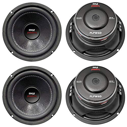 "PYLE PLPW6D 6"" 2400W Car Audio Subwoofers Subs Woofers DVC Stereo 4-Ohm"