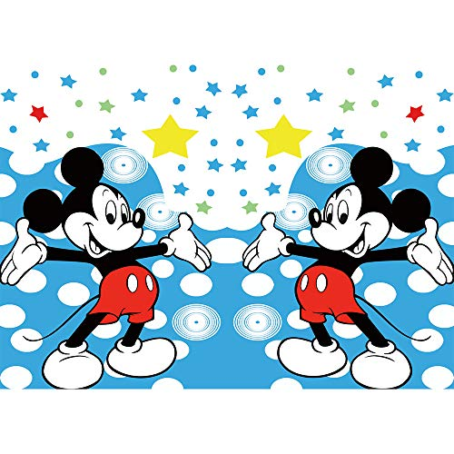 Mickey Mouse Birthday Backdrops for Party 7x5 Blue Twinkle Stars Photo Background Boy Birthday Banner Customized Vinyl Backdrop Baby Shower
