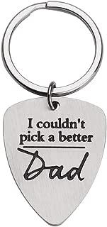 父の日ギフト 父の日 父 I Couldn't Pick A Better Dad ギター ピック キーチェーン 妻 娘 息子 子供
