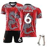 XZM Asombroso Uniforme de fútbol del Dragón Chino, Camiseta de fútbol Manchester United Memorial, Uniforme de Entrenamiento, adecuados (niños Adultos) 99% poliéster-NO6-24