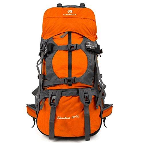 Outdoor sac à dos d'alpinisme sac grande capacité randonnée à dos de camping housse de pluie sac à dos 55L contenant